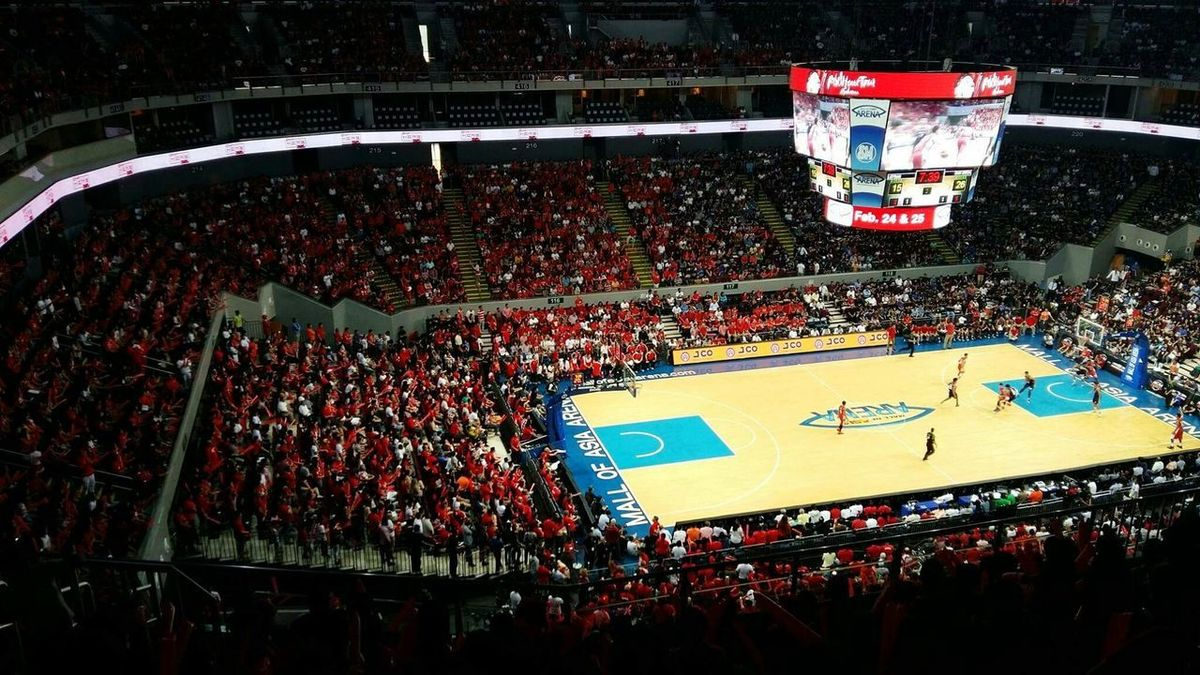People Together School Games Basketball Game Moa Arena,Philippines Red Lions