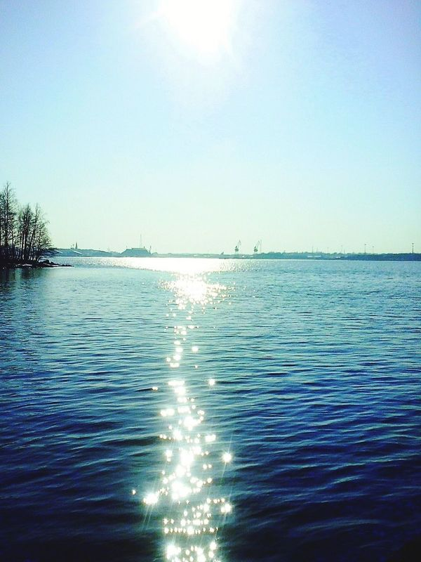Outdoors Sunny Day Sea By The Sea Nature Outdoor Photography Springtime Shining Bright Trees Sea And Sky Nature Photography Naturelovers Harbour Cranes Finland Blue Wave