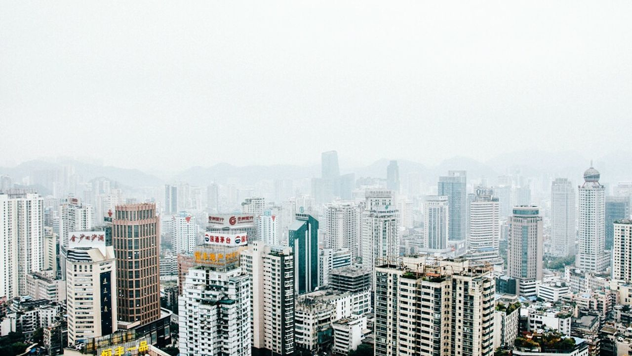 skyscraper, architecture, cityscape, building exterior, city, crowded, built structure, day, modern, outdoors, clear sky, urban skyline, sky