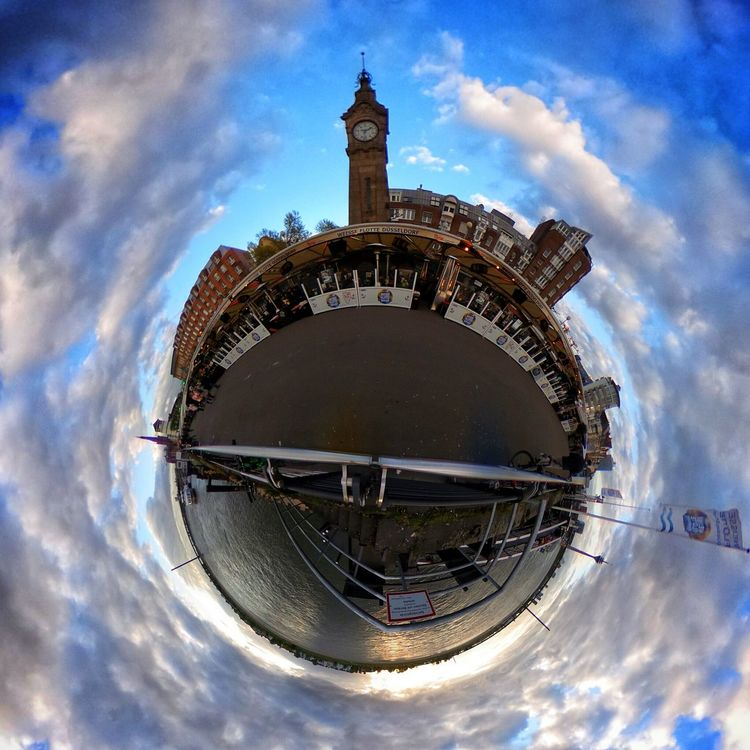 Cloud - Sky Sky Architecture Outdoors Cityscape Day Fish-eye Lens Politics And Government Building Exterior Water City Urban Skyline No People Planet Earth Ricoh RICOH THETA RICOH Theta Dome Ricoh Theta S Miniplanet MiniPlants Miniplanete