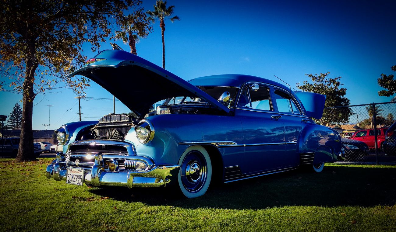 Clean 51 Chevy Chevybombs Lowrider CarShow Follow4follow Whitewalls  Blue Badass
