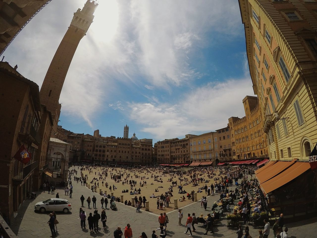High Angle View Superview Architecture Travel Destinations Siena Tuscany Italy Square Piazzadelcampo People Gopro Hero5black Lifestyles Tourism Swag Amazing EyeEm Best Shots IGDaily Loves_team_members City Cultures Tweegram Outdoors EyeEm Team Followme Sky