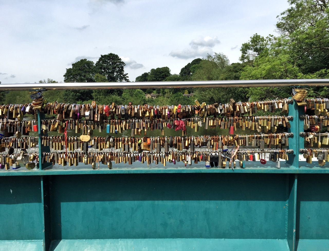 Large Group Of People Railing Padlock Love Lock Security Bridge - Man Made Structure Day Sky Outdoors Protection Lock Cloud - Sky Unity Water Men Togetherness Hope Architecture Real People Crowd