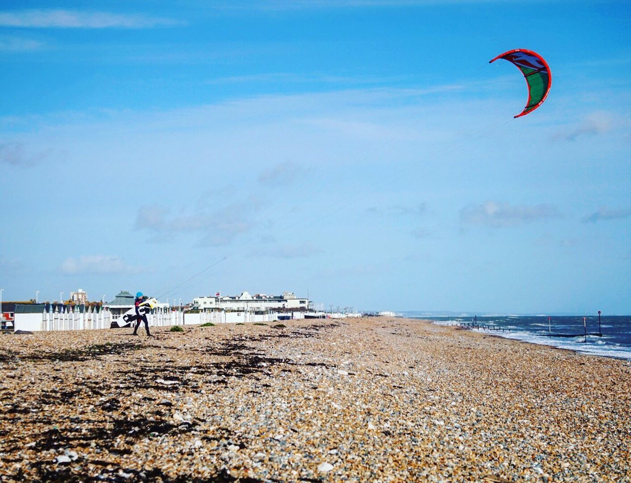 Kitesurfing 7 Sea Beach Water Sand Real People Horizon Over Water Nature Sky Lifestyles Adventure Shore Outdoors Beauty In Nature Leisure Activity Scenics Day Paragliding Extreme Sports Parachute Vacations Worthing Kitesurfing Kiteboarding