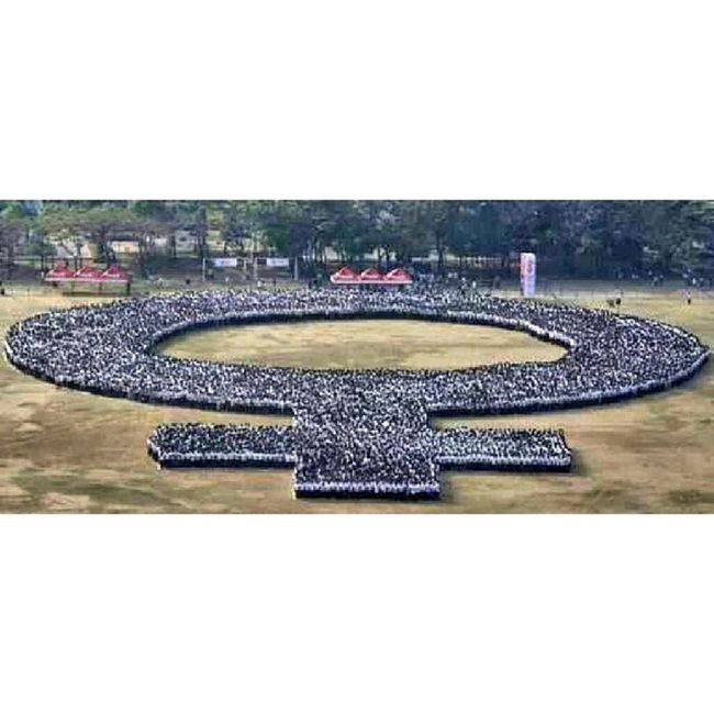 Happy International Womens Day! Aerial Photo by Aaron Favila Quirinograndstand Guinessrecord (c)AteNicole