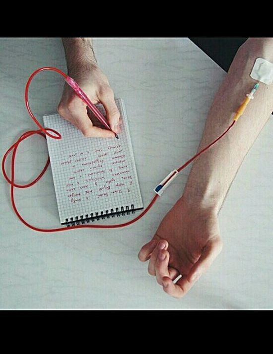 Push Yourself Blood To Write