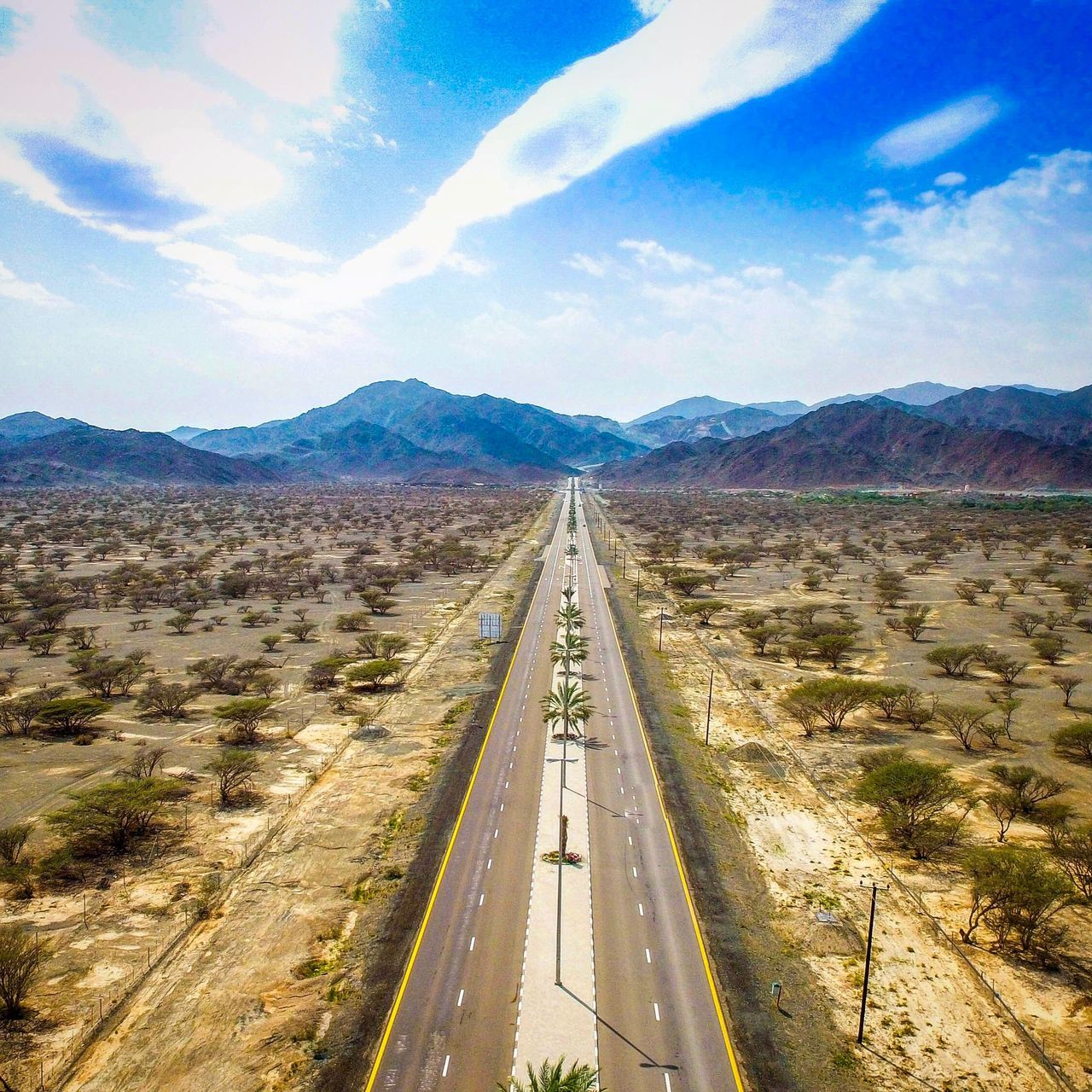 Sky Mountain Landscape Transportation Scenics Day Mountain Range Road Cloud - Sky Non-urban Scene Nature Outdoors Beauty In Nature The Way Forward No People Dronephotography Drone