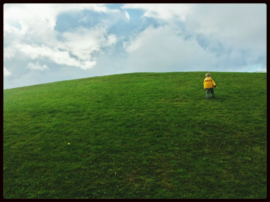 My sons first hike up a hill... People And Places. Landscapes With WhiteWall The Magic Mission