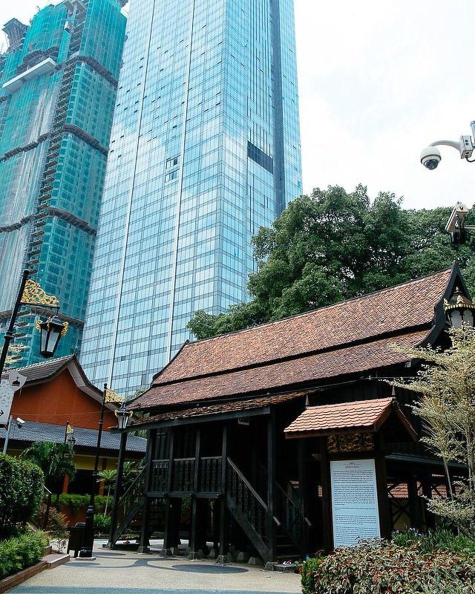 The royal palace of then Istana Satu at the Muzium Negara Latergram Royal Palace Wood Wooden Muziumnegara Istanasatu Kualalumpur Kl Malaysia Travel Fujifilm Fuji Xe1