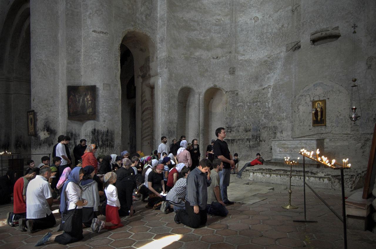 People Praying At Alaverdi Monastery