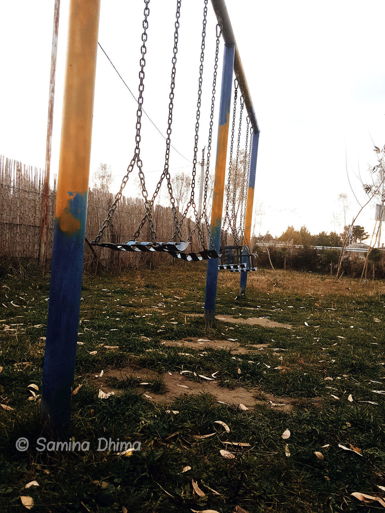 '90 Children 90's  Childhood Day Lonely Lonely Objects Lonely Place  Nature Nature Photography No Children Playing No People Noonearound Outdoor Play Equipment Outdoors Park Playground Playground Equipment Playing Sky Swing Tree