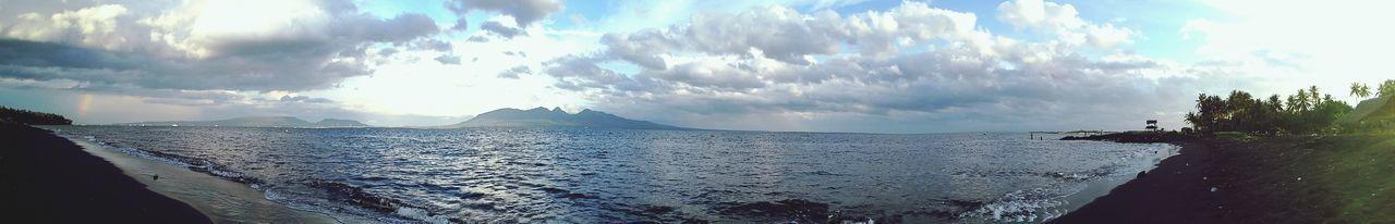 """ the strait never lonely :) Somewhere Over The Rainbow Sky Lovers Being A Beach Bum Bali Island Bali Strait Banyuwangi Panorama Indonesia   Rainbow Beach Sky"