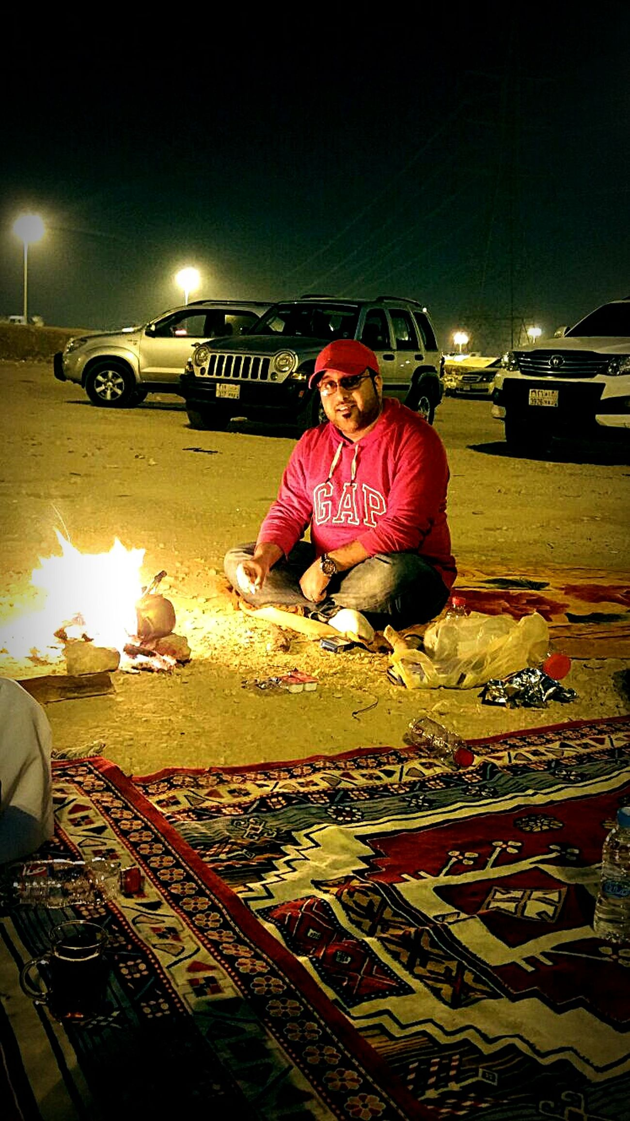 Hanging Out Night Lights Riyadh Lovely Night! Camp Fire