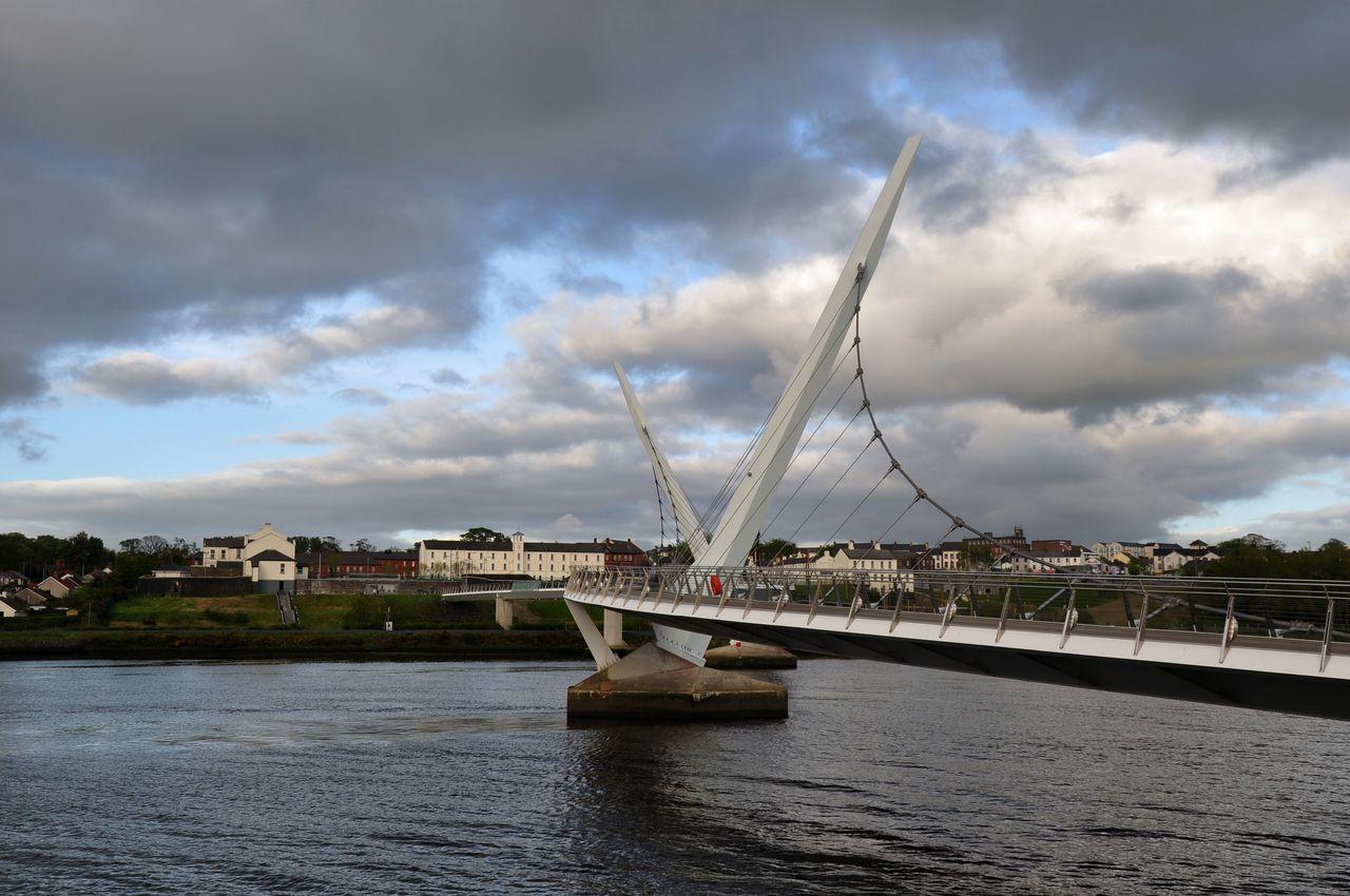 Peace Bridge Derry Londonderry Bridge Derry Derrylondonderry Londonderry Northern Ireland Peace Bridge River