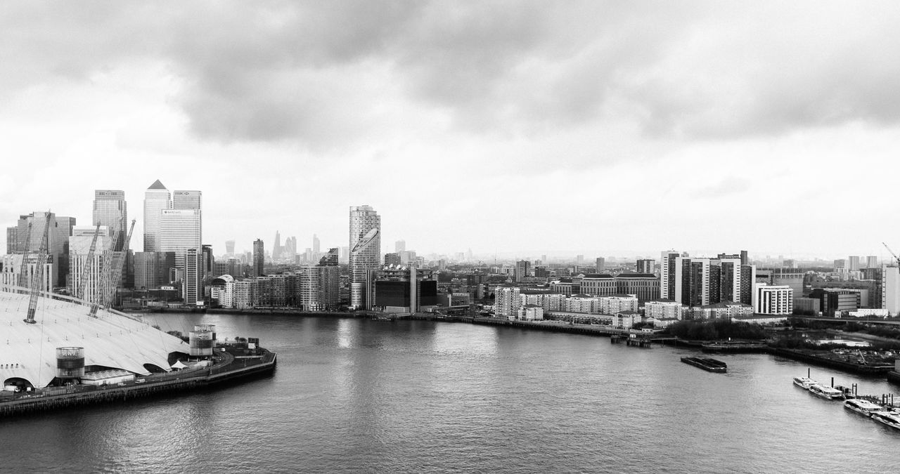 West side Architecture Blackandwhite Building Exterior Built Structure City Cityscape Day Fujifilm Fujifilm_xseries Mode Of Transport Monochrome Nautical Vessel No People Outdoors River Sky Transportation Urban Skyline Vscofilm Water