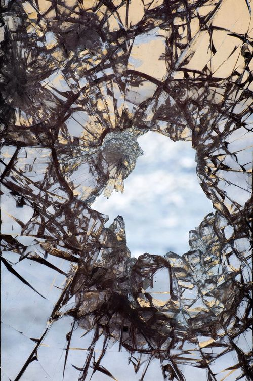 Color Photography Broken Glass Window Frame Like Ice Something Exploding Photoart Through The Looking-Glass Adventures In Wonderland To Be Continued