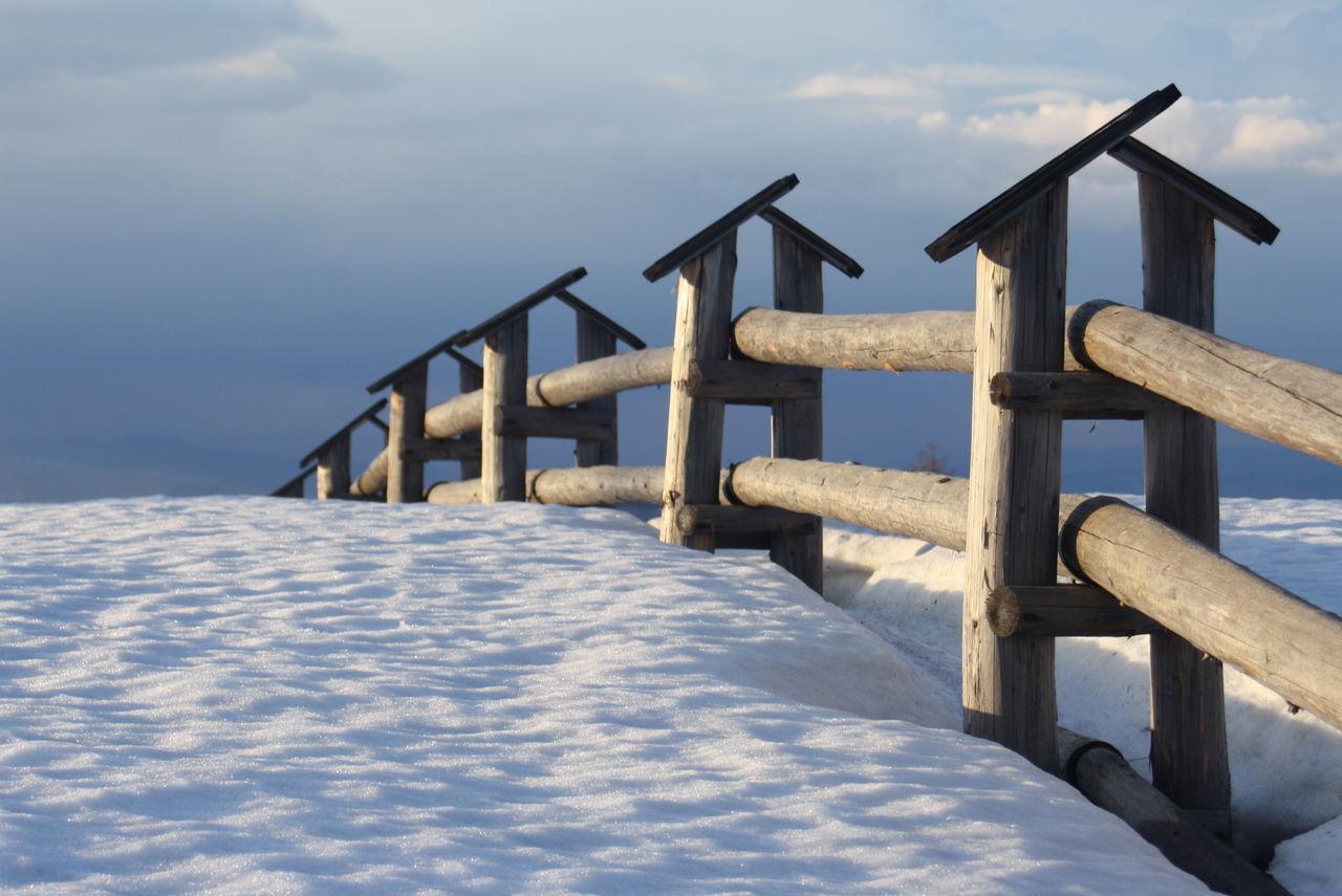Blue Sky Fence Gubałówka Mountain Mountains Snow Snow And Sky Tatry White Winter Wood Pastel Power