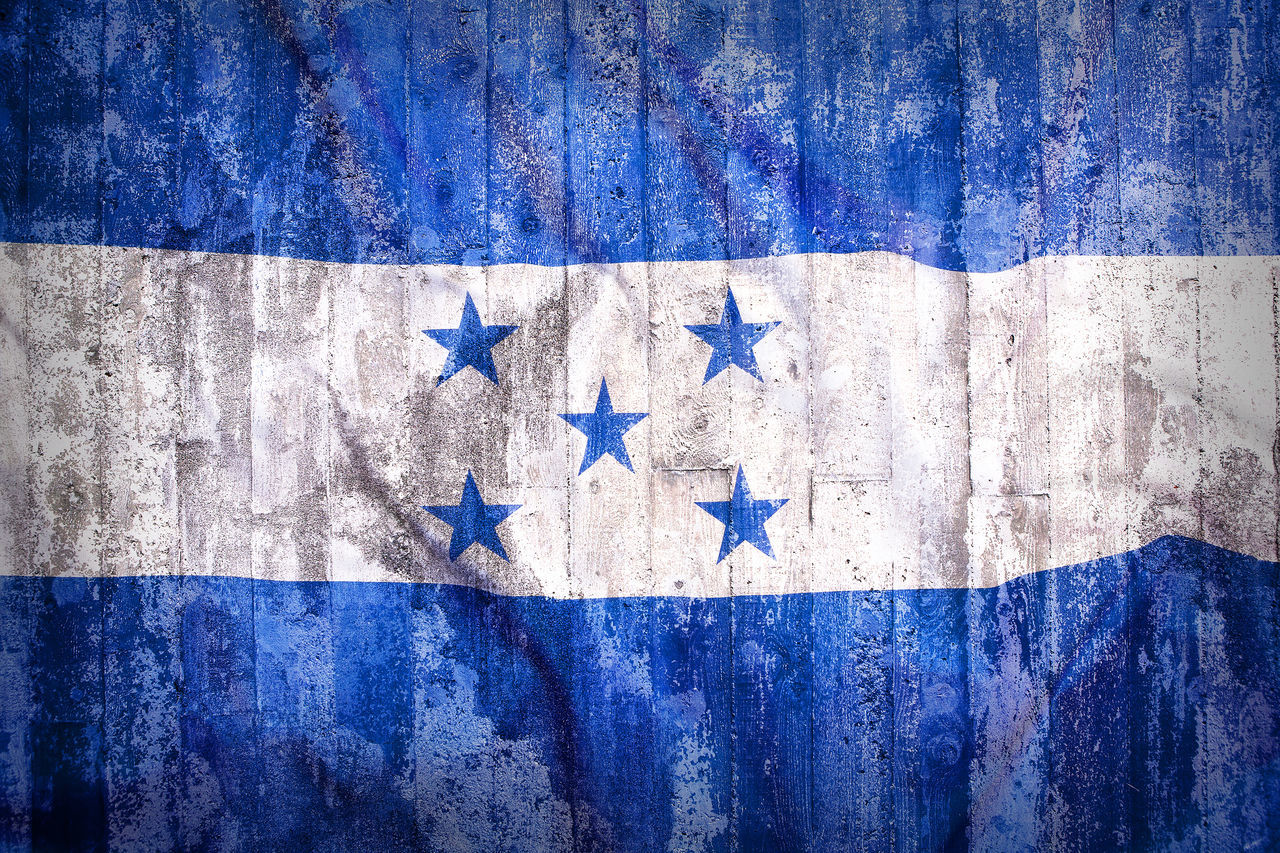 Backgrounds Blue Close-up Day Directly Above Flag Flags Full Frame Honduras National Park No People Outdoors Patriotism Textured  Wood - Material