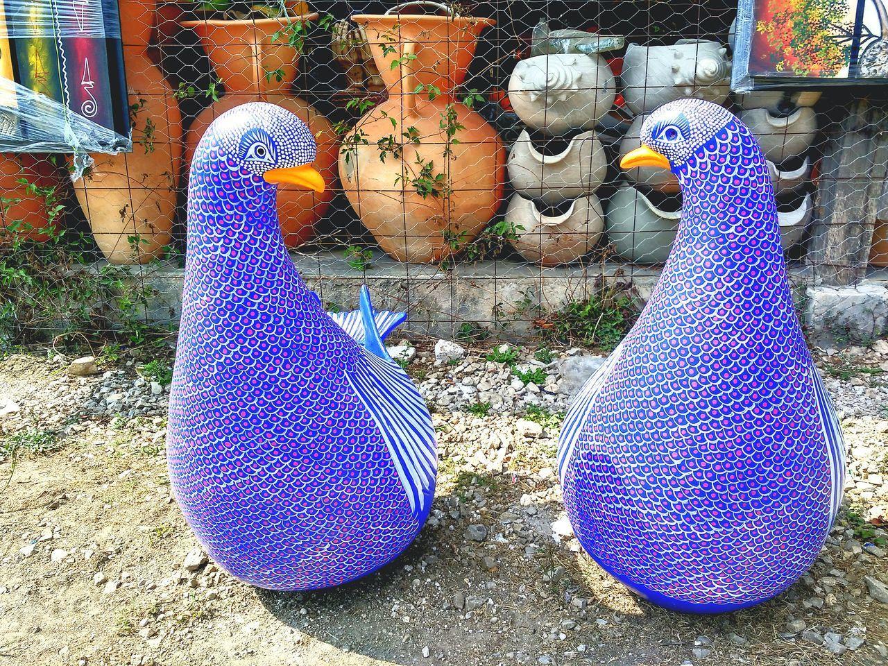 Twin blue-purple Art Is Everywhere Day Blue Purple Art Palomas Union Beauty Barro Alfareria by OEVR