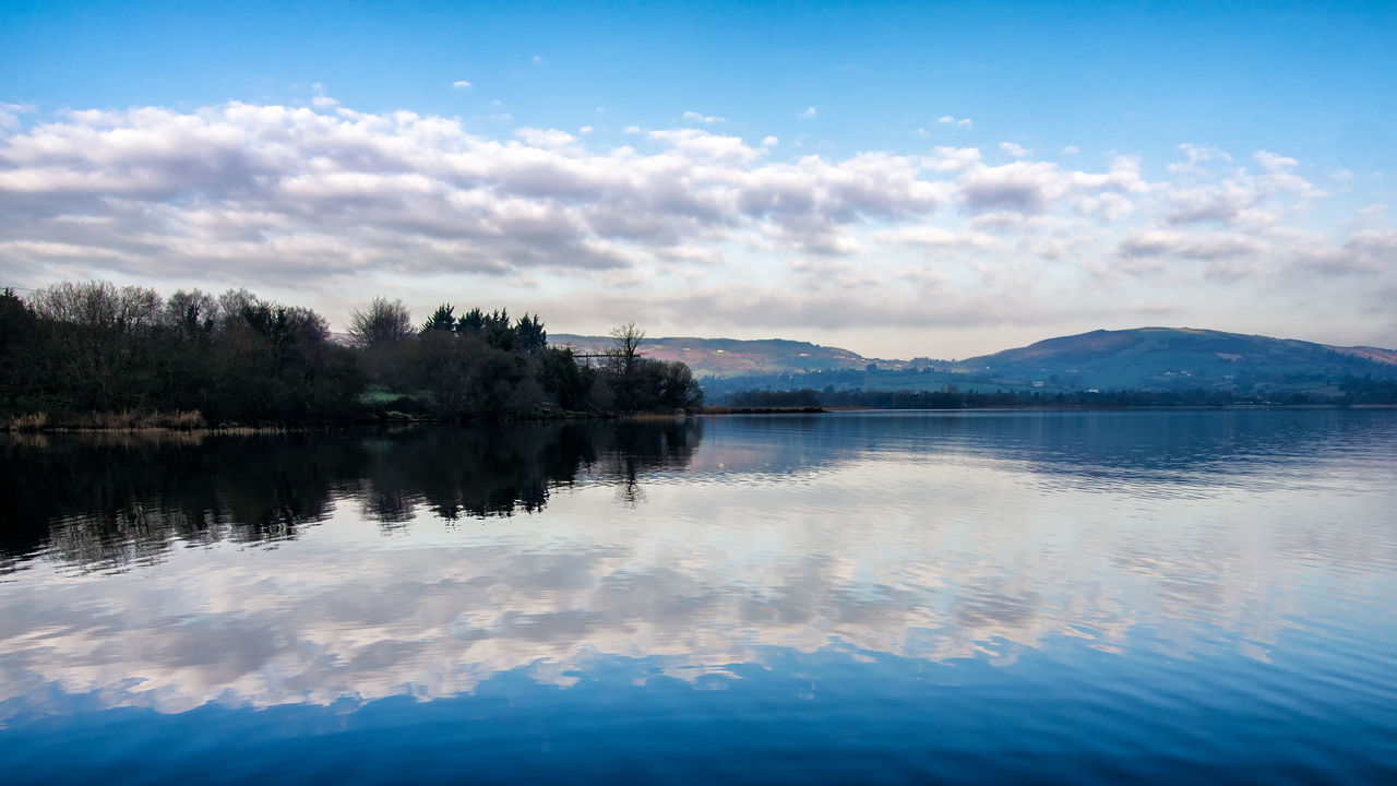 Loch Deirgeirt Lough Derg Reflection Water Nature Sky Blue Lake Cloud - Sky Outdoors Reflection Lake Beauty In Nature Tranquility Landscape Lough Landscapes No People Ireland Lightroom & Nik