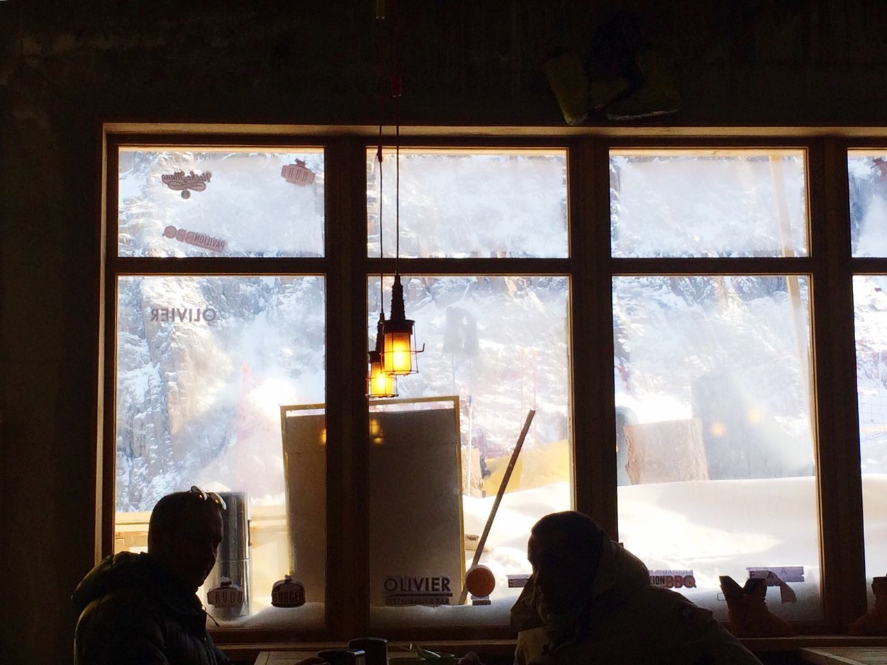 Wintertime Cafe tAin Cafe Interior Loft People Conversation Photoart Shadows Lights Mountain Tea Window Silhouette Barbaris18
