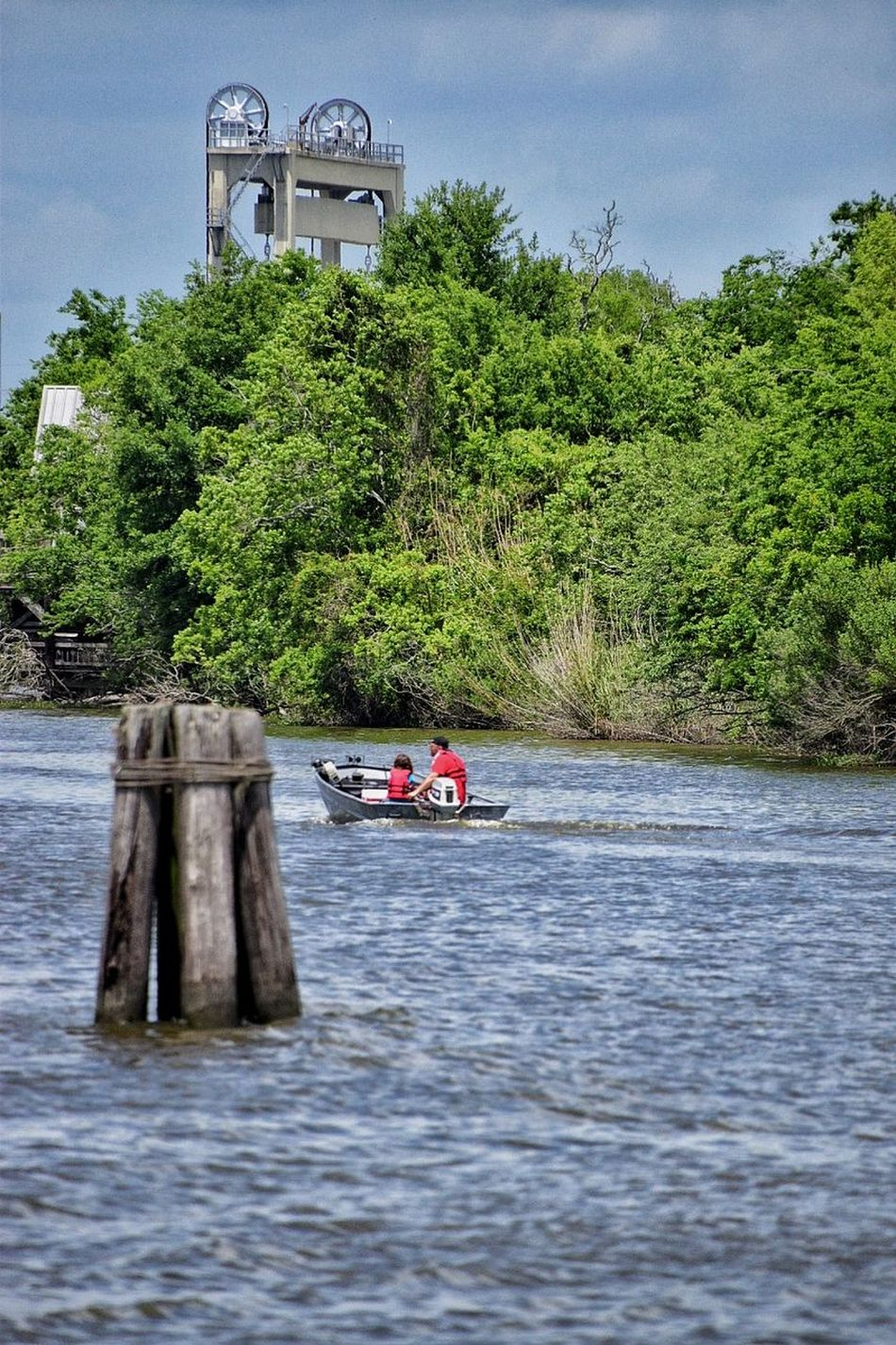 daytrippin Water River Tree Outdoors Real People Day Nautical Vessel Nature Men Adult Adults Only People Oar Only Men Sky South Louisiana Boats And Moorings Harbor Boatarde ✌ Drawbridge  Trees Water