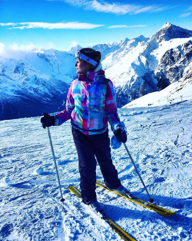 Dombay Snow Mountains Sky Ski Holiday Winter Gerl Beauty In Nature Nature Good Mood