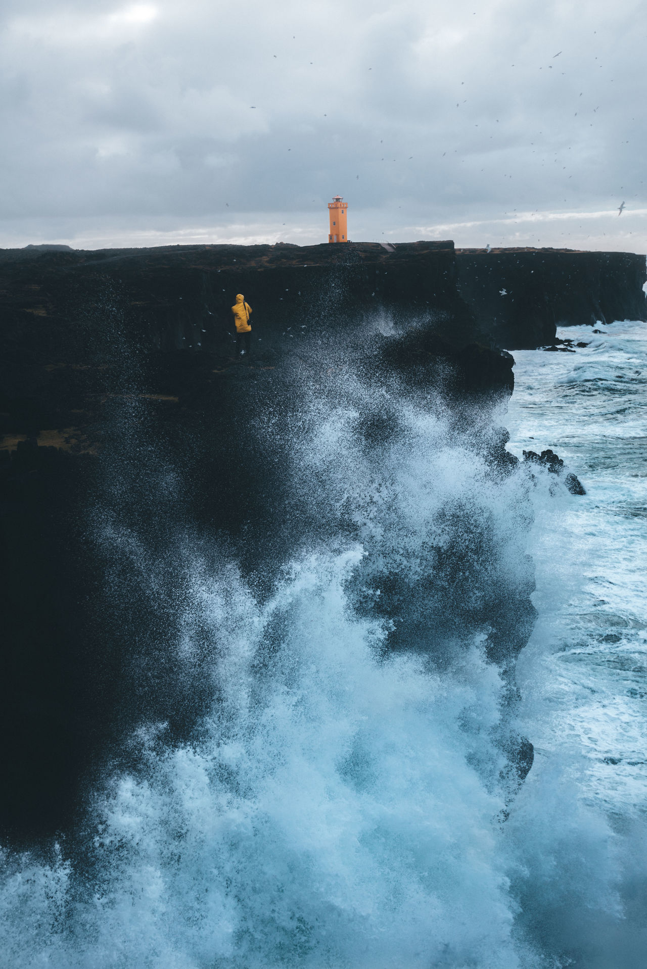 Iceland coast landscape with rough sea Beauty In Nature Breaking Crash Day Force Hitting Motion Nature No People Outdoors Power In Nature Sea Sky Water Wave Fresh On Market 2017