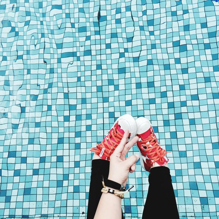 Out Of The Box Converse x Marimekko drifting with the waves. Converse Marimekko Sneakers Sneakerhead  Kicks Kicksoftheday One Woman Only Only Women One Person Human Body Part Day Adults Only Swimming Pool One Young Woman Only People Outdoors Adult Nail Polish Women Human Hand Young Adult Close-up