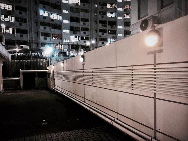 Solitude IPhoneography Hong Kong Street Photographer-2016 Eyem Awards Light And Shadow Eye4photography  City At Night State Of Mind  Building Exterior Building Different Points Of View