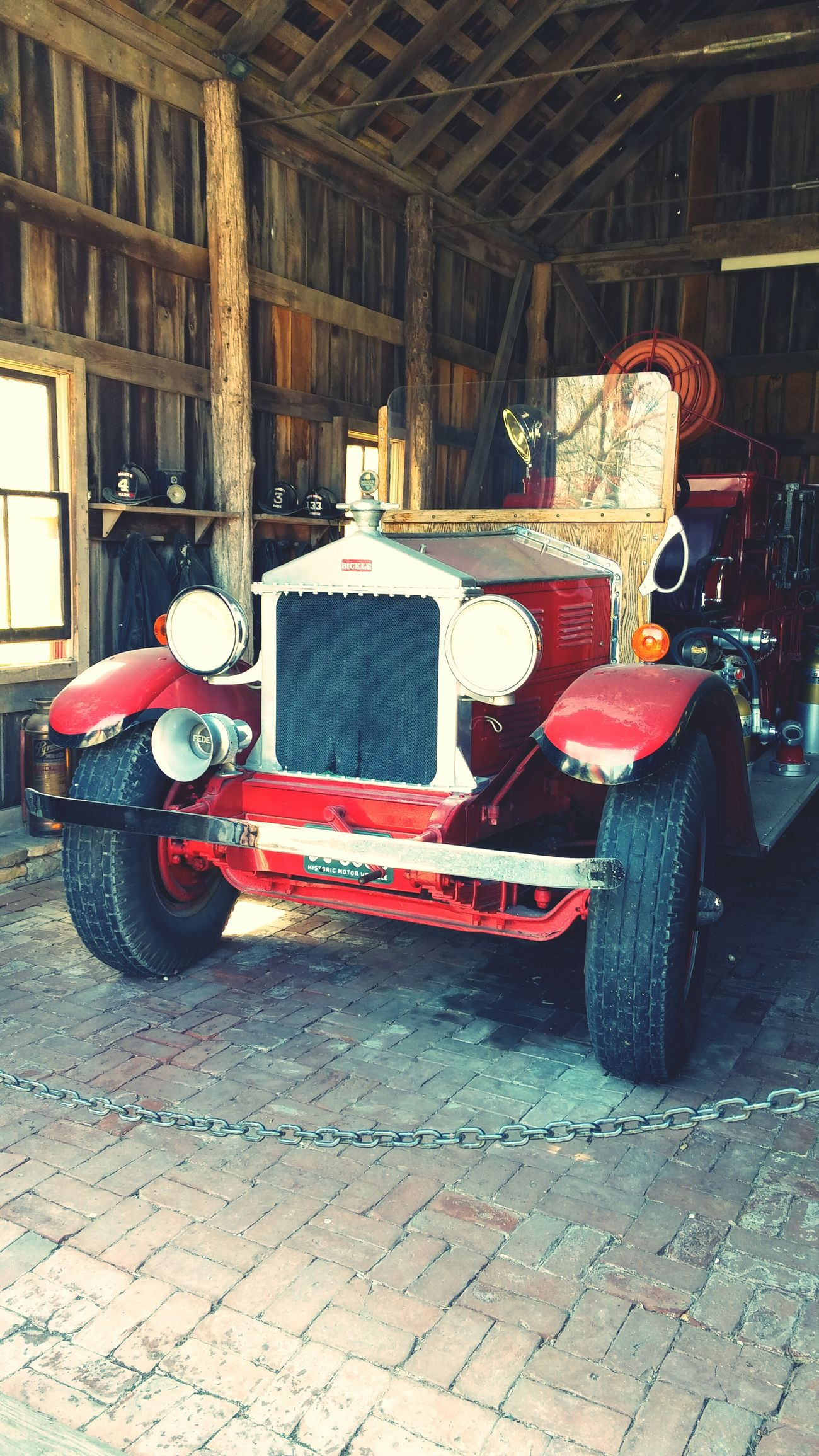Distillery Tour Vintage Firetruck Makers Mark Kentucky