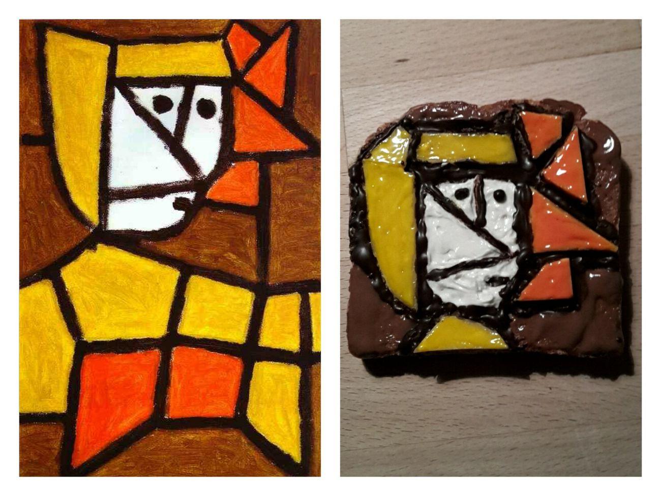 Paul Klee Frau In Tracht Art On A Toast Selfmade :)