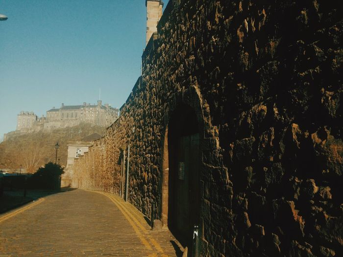 Flodden Wall Flodden Wall Edinburgh Castle Edinburgh Historical Place Historic History Historical Monuments The Way Forward Architecture Built Structure Day History Road Outdoors No People Building Exterior Nature Sky