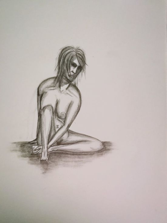 Sketch ArtWork Art Sketchbook Drawing People Nude-Art Nudepainting Nudewomen Pencil Drawing Pencil Art Pencilsketch Creativity Light And Shadow Art, Drawing, Creativity Artwork By Me Adult Human Body Part Bodyart