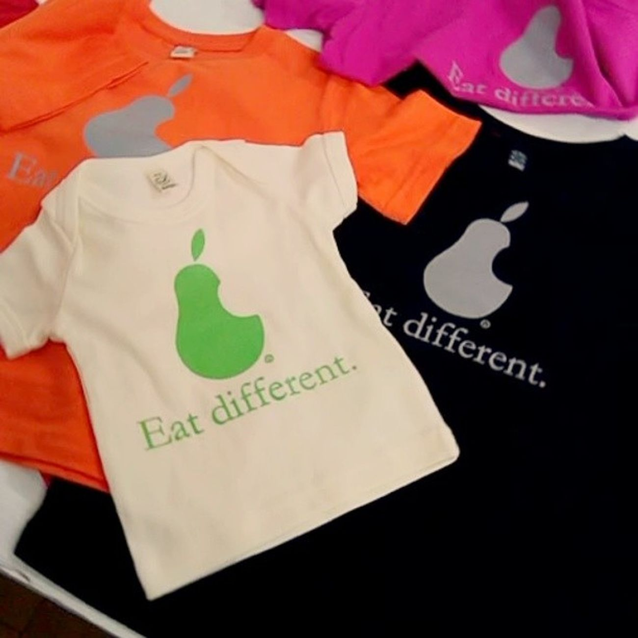 Kids and babies t-shirts #vegantshirts #vegan #eatdifferent #apple #pear #organic #vegfestuk Apple London Fairtrade Vegan Organic Pear Chiaralascura Vegantshirts Fairwear Veganfashion Eatdifferent Vegfestuk Caterpillarrai