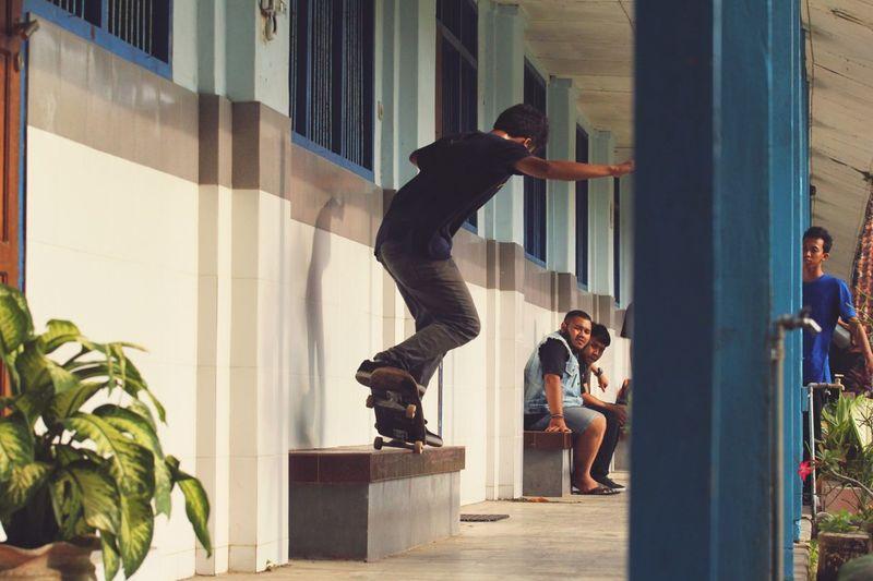 Bs Nosegrind at a highschool somewhere in Madura, Indonesia Skateboarding Skate Skateindo Skateboard Skatelife Skateboardingisfun
