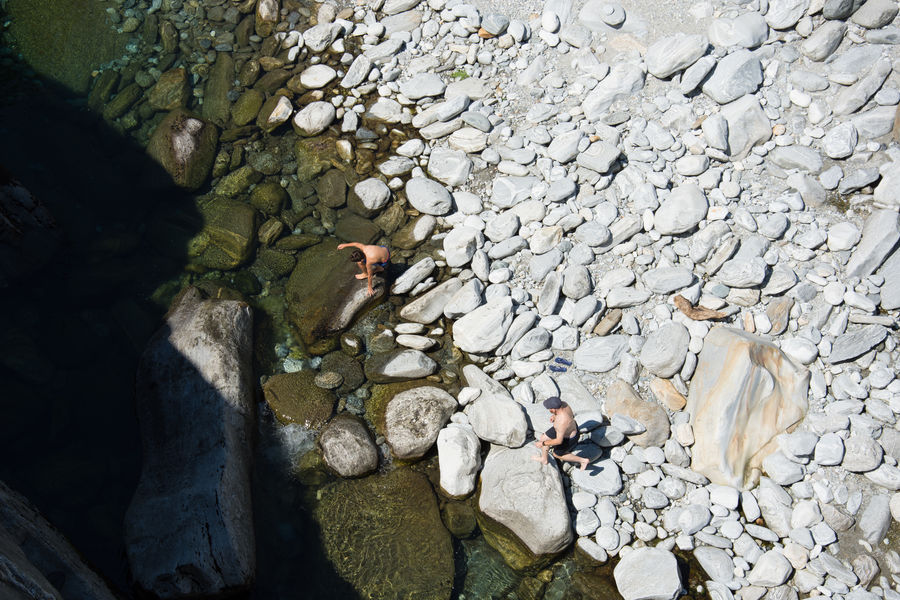 A Bird's Eye View Stone - Object Beauty In Nature Two Is Better Than One Summer River Water Nature Fun inValle Maggia, Switzerland TakeoverContrast