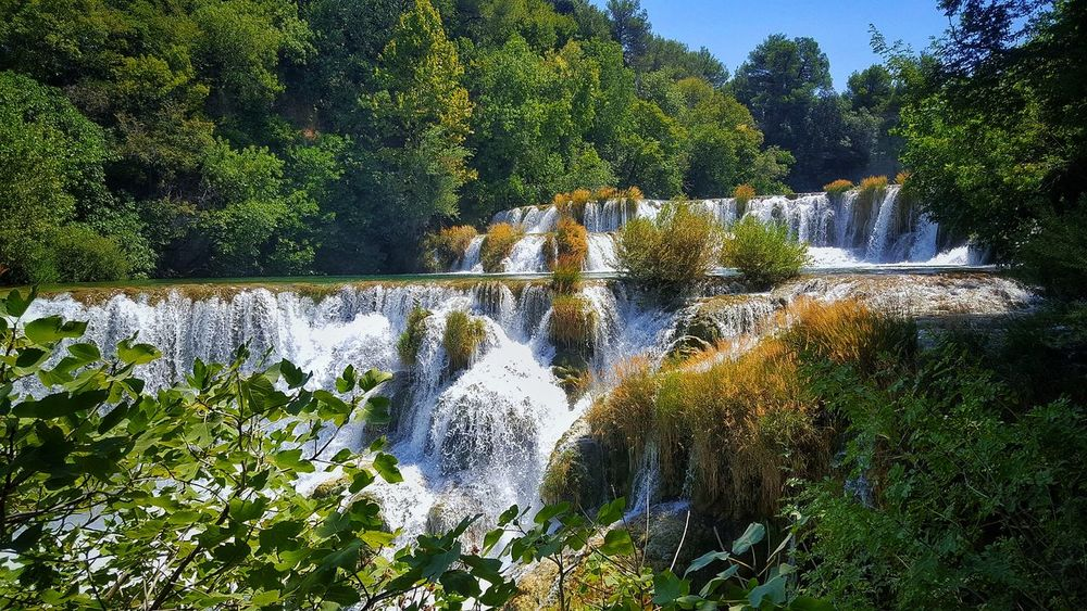 Tree Nature Growth Outdoors Day Green Color No People Beauty In Nature Water Sky Waterfall Kraka Croatia Nature Naturepark