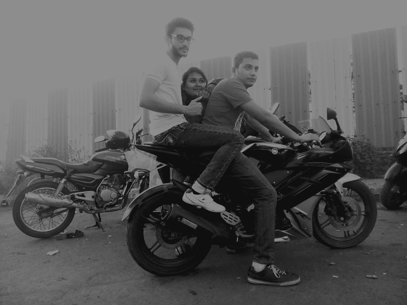 All about friends hanging out...... Friends Yamaha R15 Afterwork Living Life
