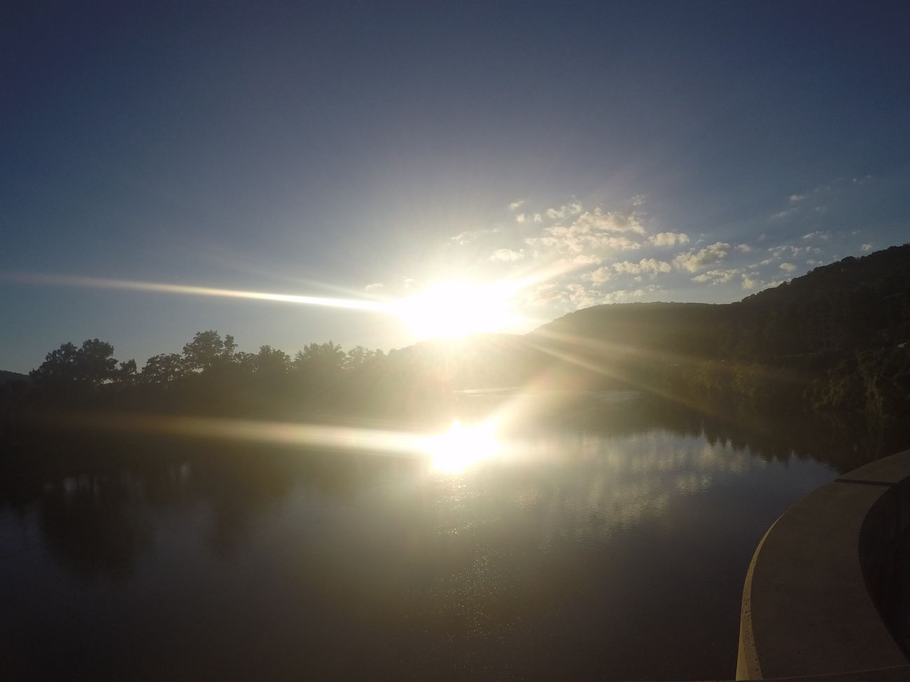 Two sun rays 1pix... Sunlight Sunbeam Tranquil Scene Beauty In Nature Reflection No People Non-urban Scene Tranquility Being Creative. Expressing Myself. No Filter, No Edit, Just Photography Sawonmyadventure Only God Can Create Such Beauty Go Pro Hero 4 Go Pro Pixing Water Allegheny River