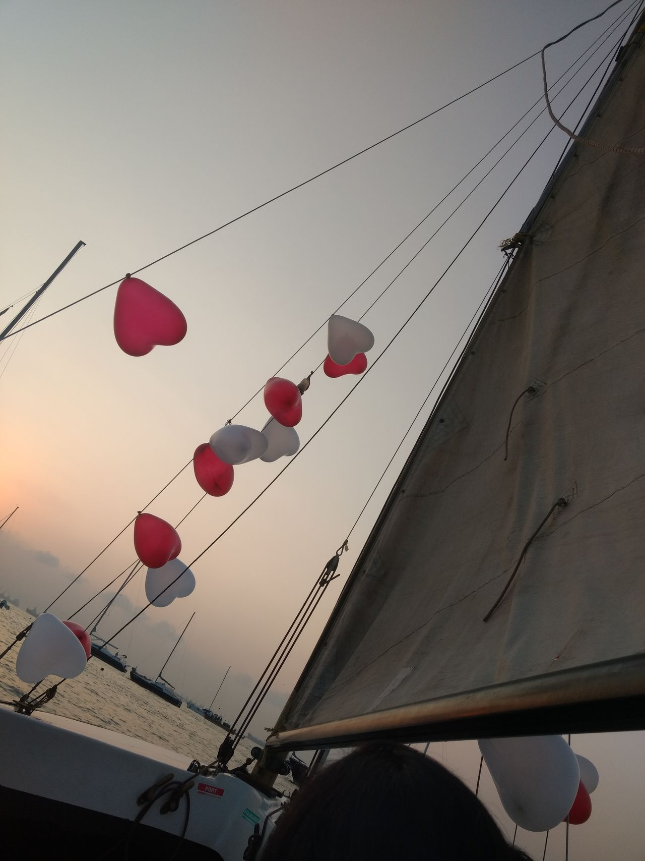 Mid-air Celebration Low Angle View Sky Sunlight Balloon Sunset No People Beauty In Nature Sailing Ship Water Sailing Mode Of Transport Nautical Vessel Transportation Sea Sail Boat Celebration Travel Canvas Mumbai