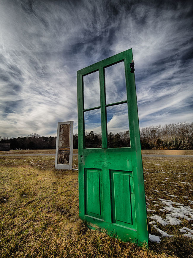 Artistic Blue Sky Clouds Clouds And Sky Door Doors HDR Hdr_Collection Surreal