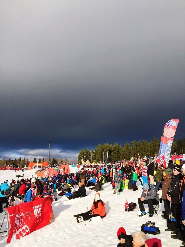 Great atmosphere today during the Sprint Competition at Lugnet Crosscountry Skiing Falun2015