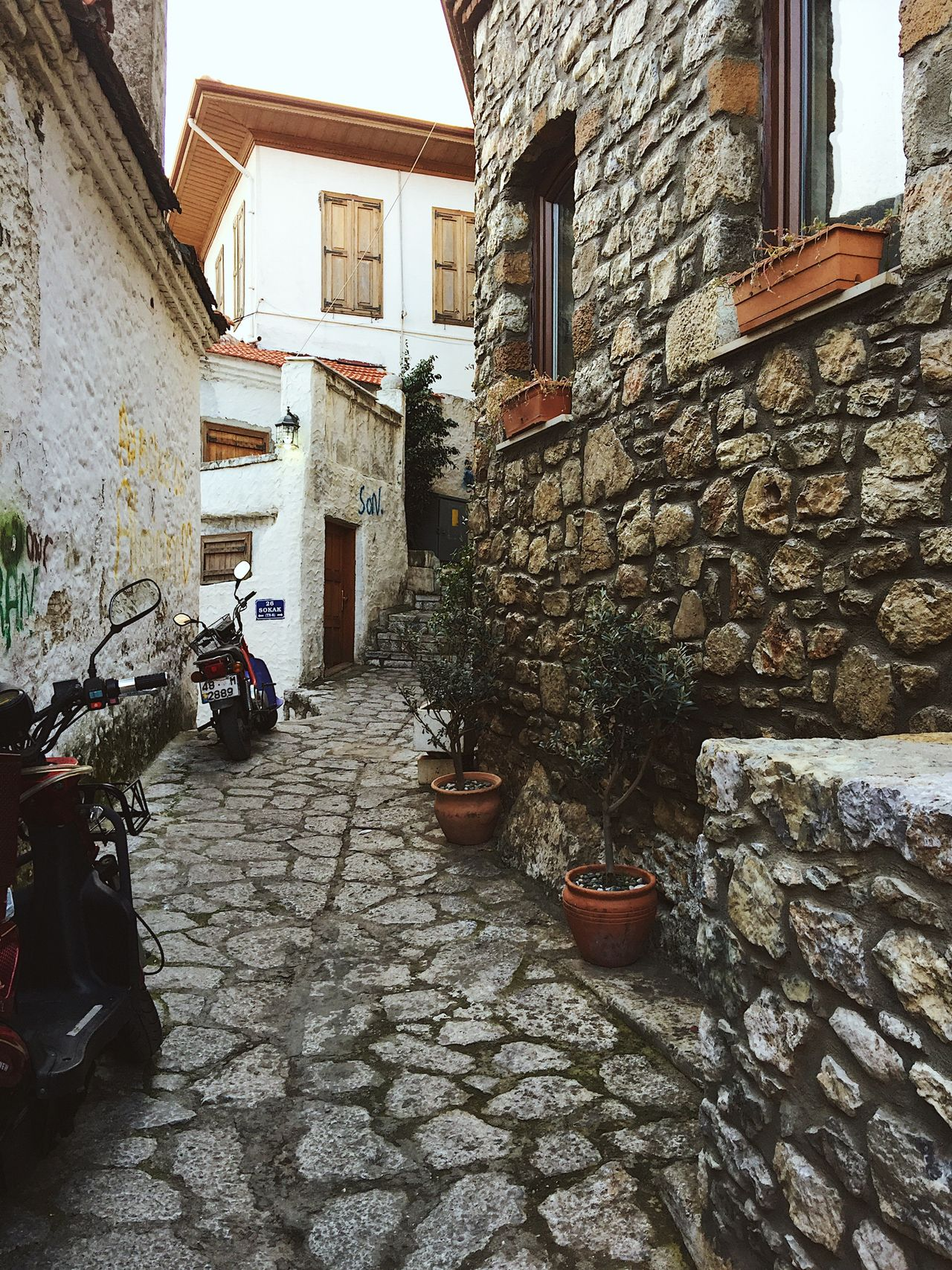 Old town of Marmaris, Turkey Architecture Building Exterior Built Structure Marmaris Motorbike Nature Old City Old Town Outdoors Scooter Turkey