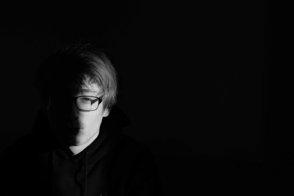live can be black or white it's what you prefer... Black Background Blackandwhite Close-up Copy Space Dark Depression - Sadness Distraught  Eyeglasses  Headshot Human Eye Human Face Looking At Camera One Person People Shock Sophisticated