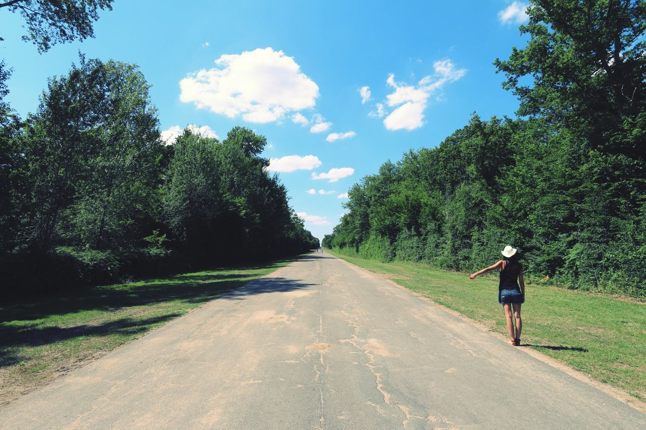Hitchhiking On The Road Alone Take Photos