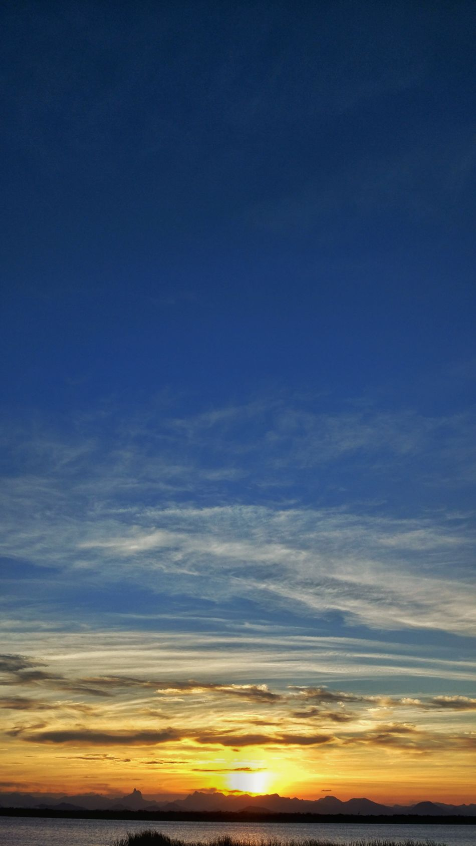 Sunset Sky Cloud - Sky Blue Tranquil Scene Nature Beauty In Nature Outdoors Tranquility Backgrounds No People Horizon Over Water Reflection Praia Beach Photography Rio De Janeiro Lagoon Brazil Natureza Restinga Lagoon Water Wildlife Beach Water Nature