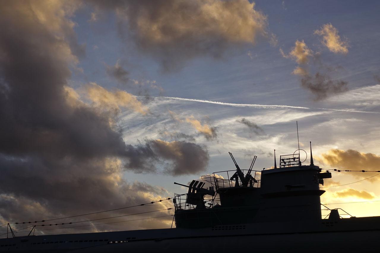 Museums U-Boot U 995 Cloud - Sky Day Nature Nautical Vessel No People Outdoors Silhouette Sky Storm Cloud Submarine Sunset Thunderstorm Transportation U-Boot U 995
