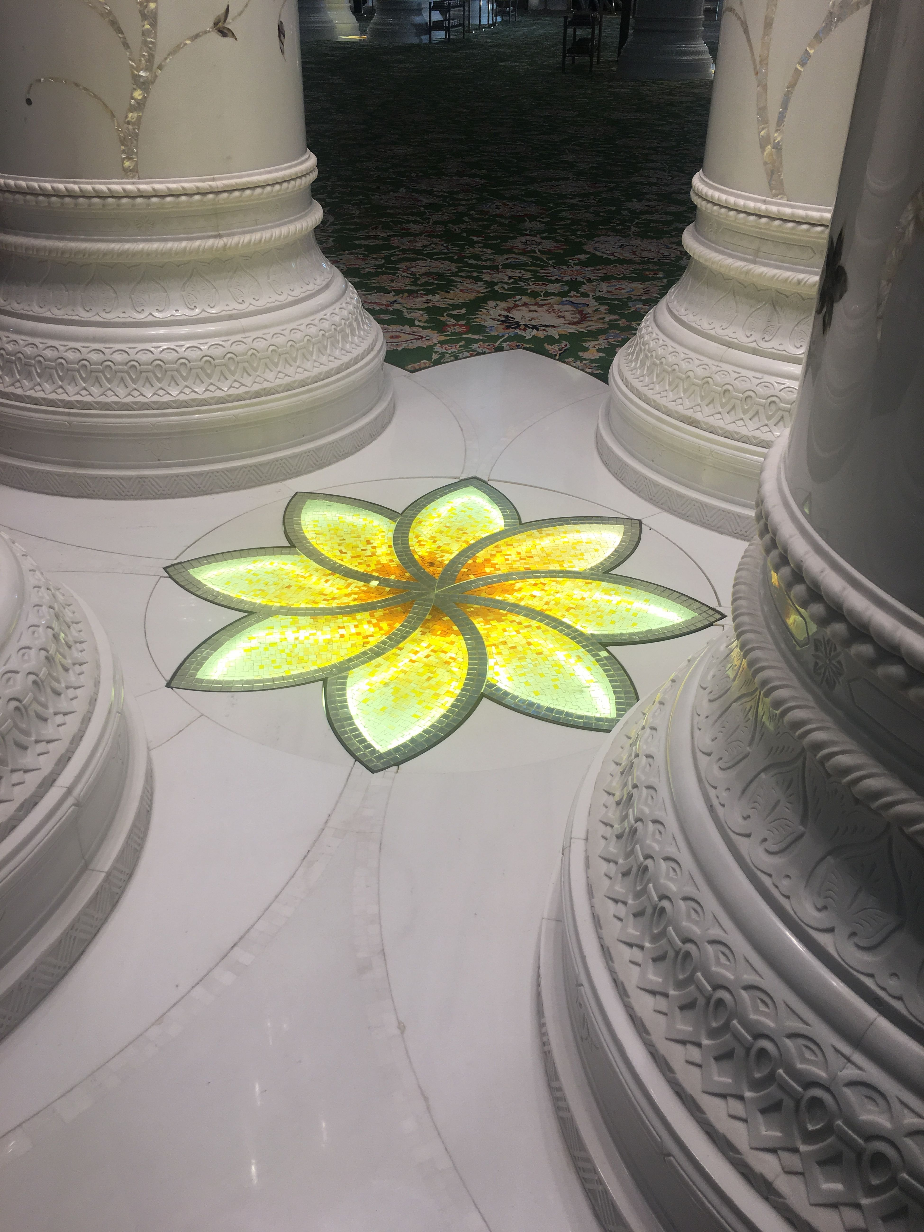 Glowing Floor Tiles Painting 12710589