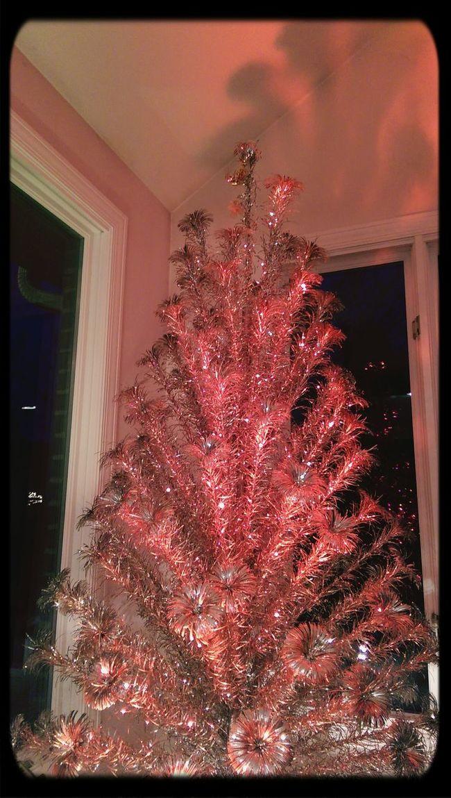 Silver pom pom tree Christmas Tree 1960